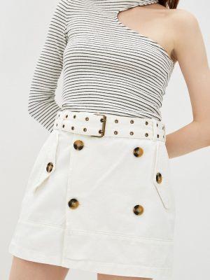 Джинсовая юбка - белая Adl