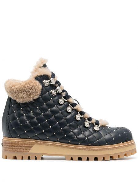 Кожаные ботинки трекинговые - синие Le Silla