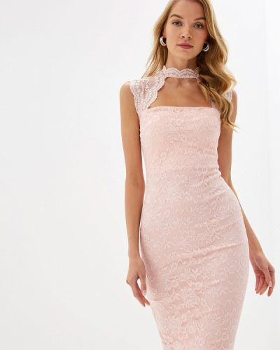Розовое вечернее платье City Goddess