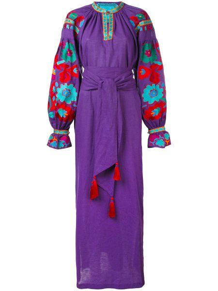 Льняное платье с вышивкой Yuliya Magdych