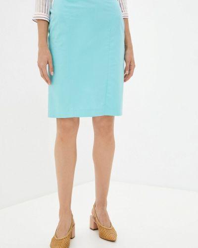 Прямая бирюзовая юбка карандаш Trussardi Collection