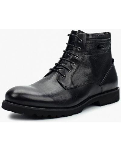 Черные кожаные ботинки Marco Lippi