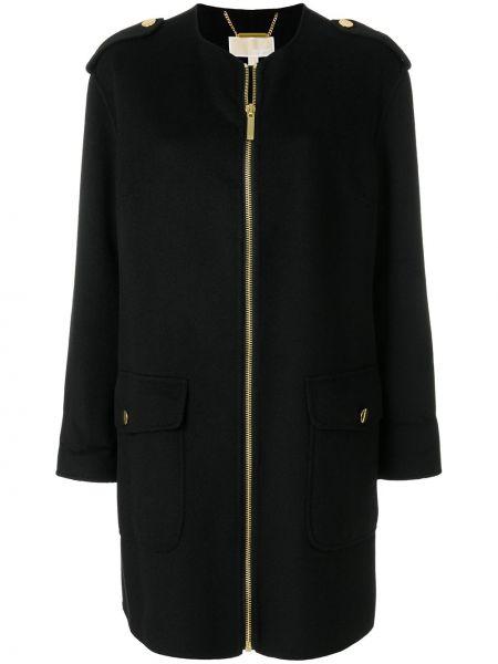 Шерстяное белое пальто с капюшоном Michael Michael Kors