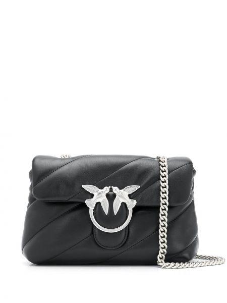 Черная стеганая сумка на плечо Pinko