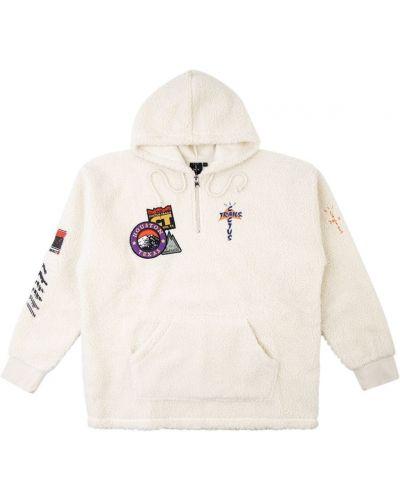 Белое худи с капюшоном на молнии Travis Scott Astroworld