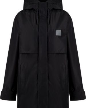 Свободная черная куртка с капюшоном мембранная свободного кроя Termit