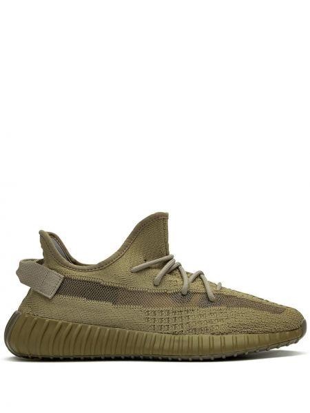 Wysoki sneakersy zielony ciemny Adidas Yeezy