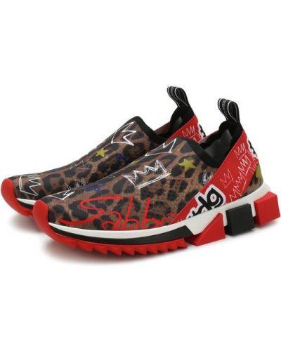 Кроссовки леопардовые Dolce & Gabbana