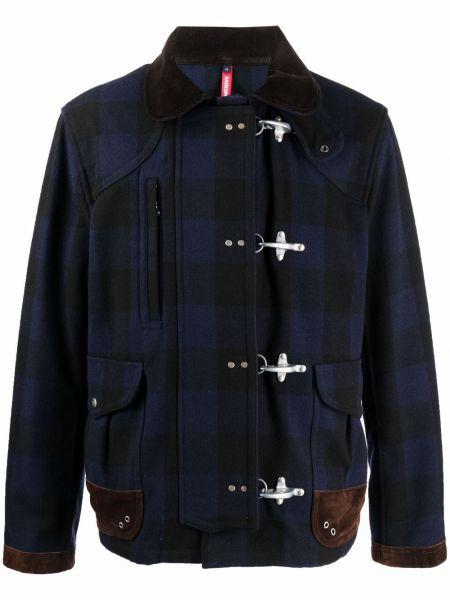 Черное длинное пальто Fay