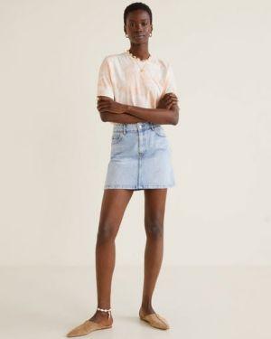Юбка мини джинсовая с карманами Mango