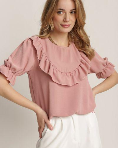 Różowa bluzka materiałowa Renee