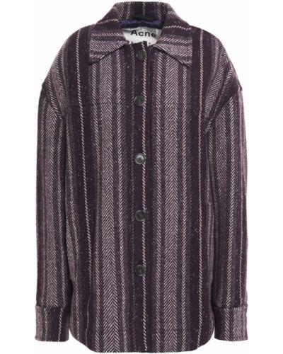Фиолетовое шерстяное пальто с карманами Acne Studios
