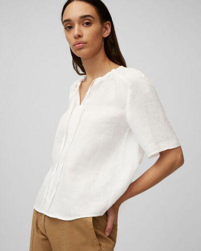 Biała bluzka z raglanowymi rękawami Marc O Polo