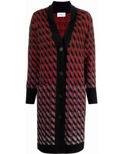 Красное пальто на пуговицах Salvatore Ferragamo
