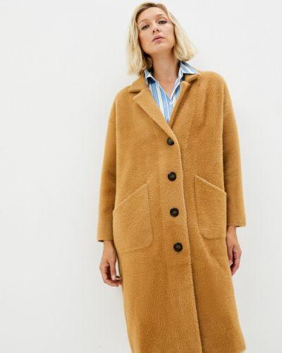 Коричневое зимнее пальто Zolla