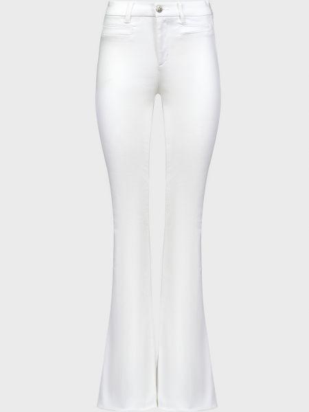 Хлопковые белые джинсы на молнии Mih Jeans