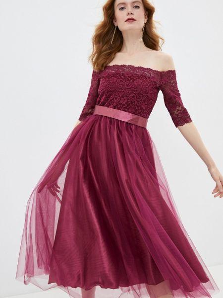 Бордовое вечернее платье Seam