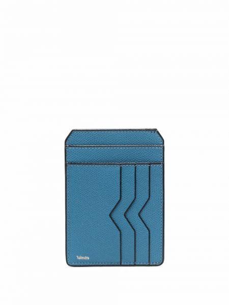 Niebieski portfel skórzany Valextra