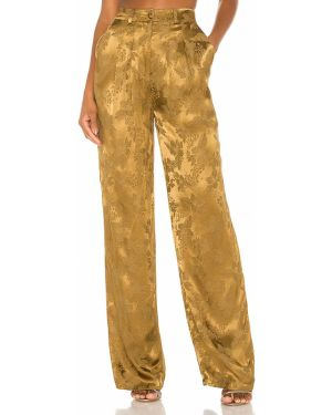 Żółte spodnie z wiskozy Camila Coelho