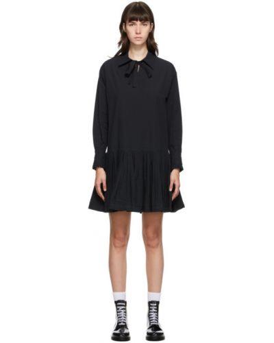Плиссированное с заниженной талией платье макси с вышивкой с V-образным вырезом See By Chloé