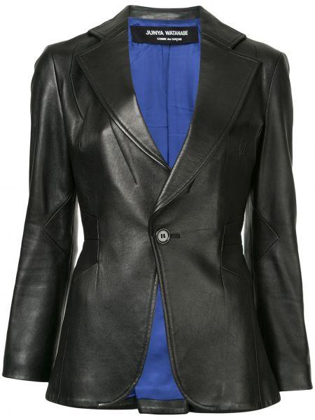 Черный кожаный пиджак на пуговицах Junya Watanabe Comme Des Garçons Pre-owned