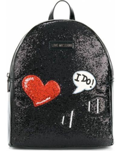 Рюкзак с вышивкой Love Moschino