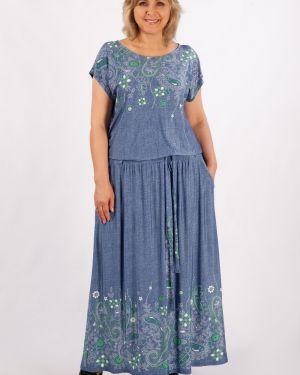 Платье макси с поясом платье-сарафан милада