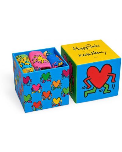Носки Keith Haring Box (3 пары) Happy Socks