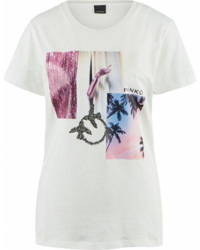 Хлопковая белая футболка Pinko