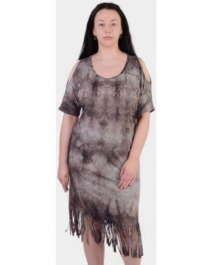 Коричневое домашнее платье N.el.