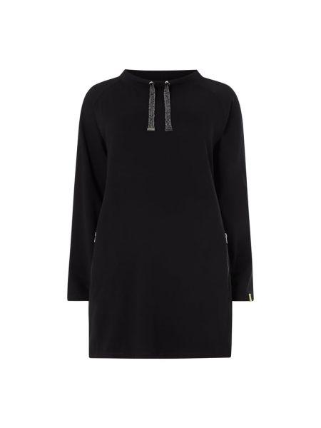 Czarna sukienka rozkloszowana dzianinowa Samoon