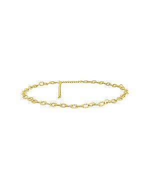 Ремень металлический золотой с поясом Ettika