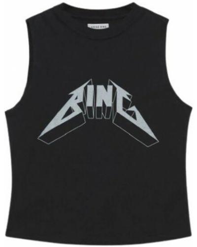 Czarna t-shirt Anine Bing