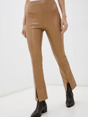 Кожаные брюки - коричневые Softy