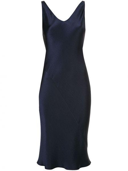 Шелковое платье миди с V-образным вырезом без рукавов на молнии Peter Cohen
