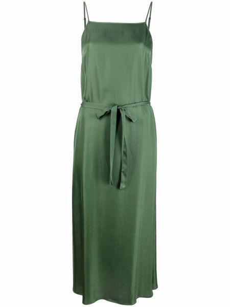Зеленое платье миди без рукавов из вискозы Diega
