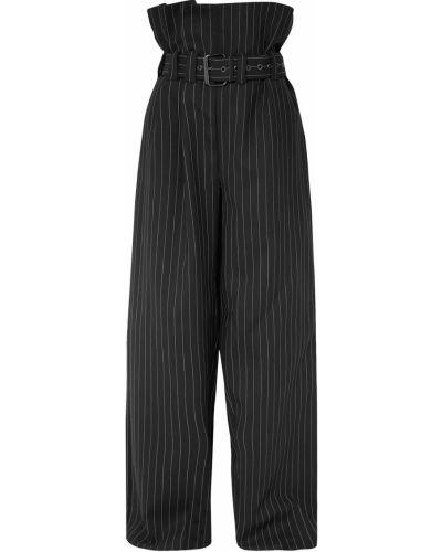 Шерстяные черные брюки с поясом Gareth Pugh
