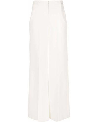 С завышенной талией белые брюки с поясом L'agence