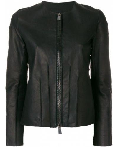 Кожаная куртка черная Simona Tagliaferri