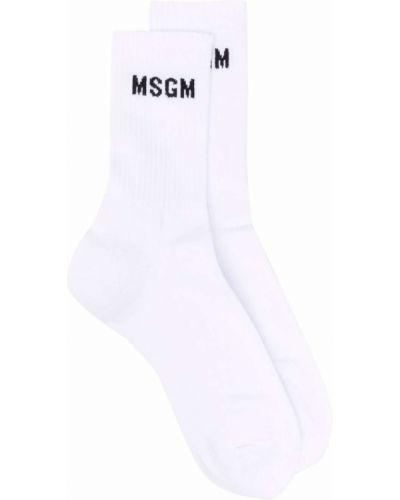 Белые хлопковые носки Msgm