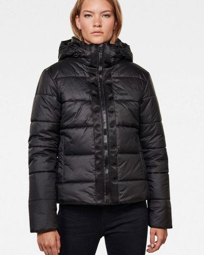 Теплая черная утепленная куртка G-star
