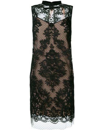 Платье на пуговицах с воротником-стойкой N21