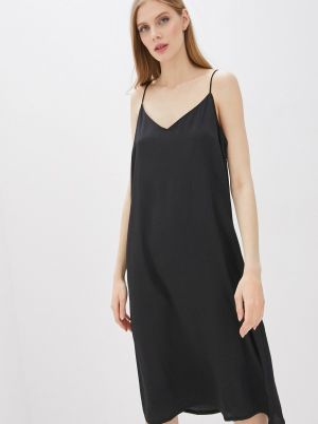 Платье платье-комбинация черное Brave Soul
