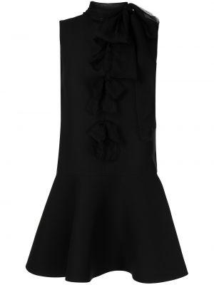 Шелковое платье - черное Valentino