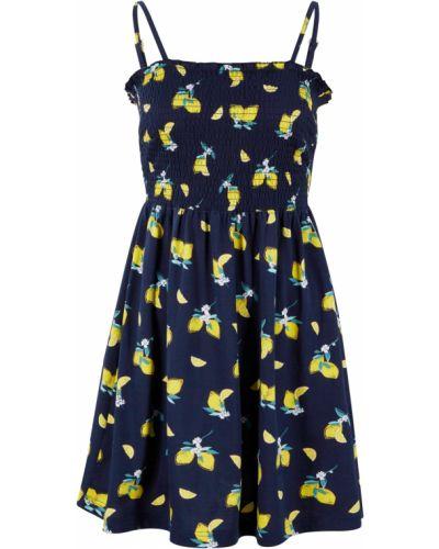 Синее трикотажное платье Bonprix