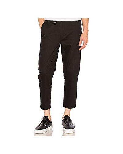 Укороченные брюки с карманами черные Publish