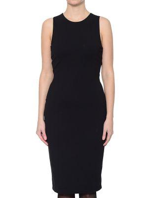 Платье из вискозы - черное Kendall + Kylie