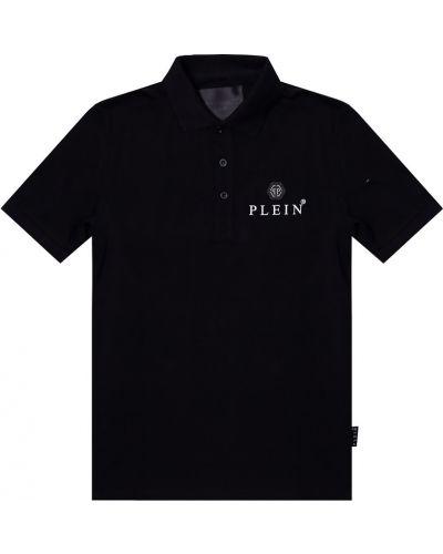 Czarna koszula krótki rękaw Philipp Plein