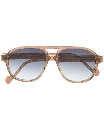 Солнцезащитные очки коричневый хаки Leqarant