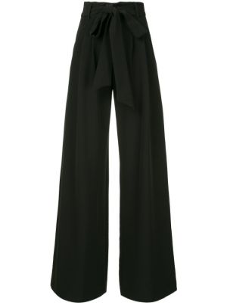 Черные свободные брюки с карманами свободного кроя с высокой посадкой Milly